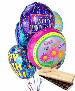 Huge helium balloons for parties